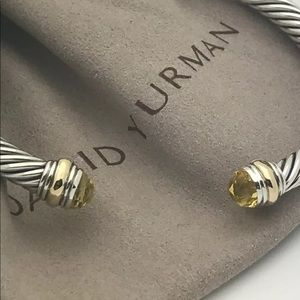 DAVID YURMAN 5mm LEMON CITRINE SS 14K GOLD